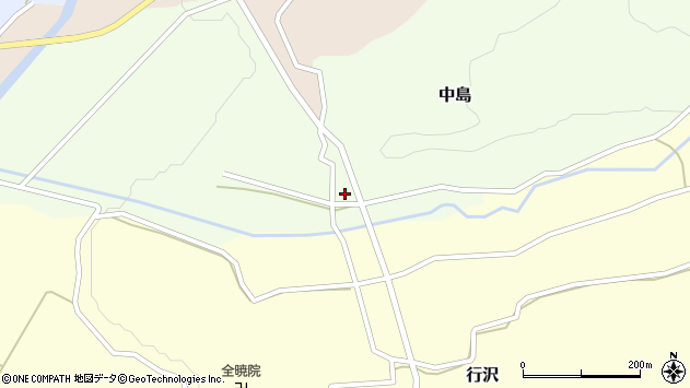 山形県尾花沢市中島周辺の地図