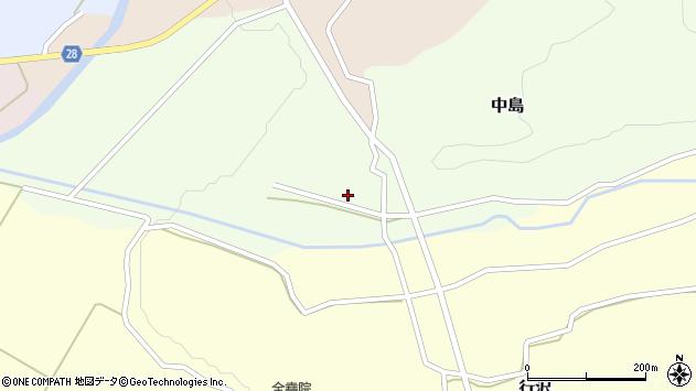 山形県尾花沢市中島137周辺の地図