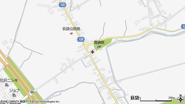 山形県尾花沢市荻袋750周辺の地図