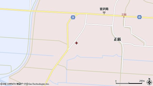 山形県尾花沢市正厳285周辺の地図