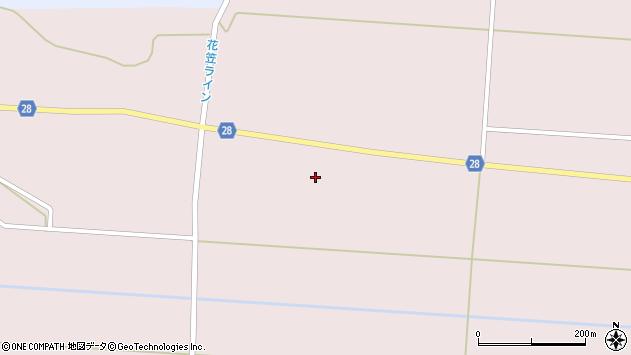 山形県尾花沢市正厳宮原周辺の地図