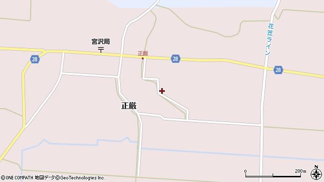 山形県尾花沢市正厳186周辺の地図
