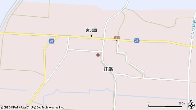 山形県尾花沢市正厳477周辺の地図