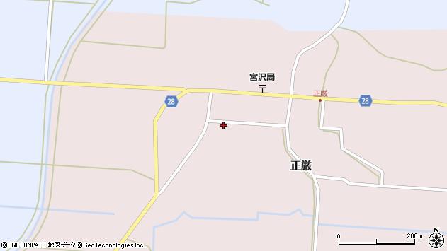 山形県尾花沢市正厳468周辺の地図