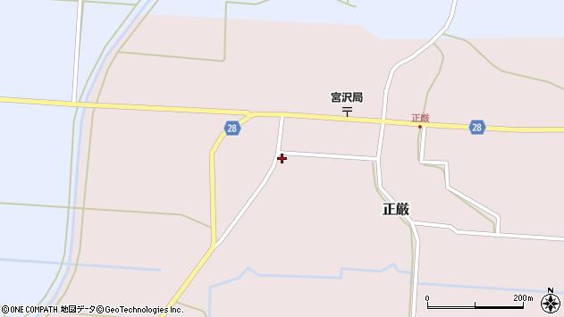 山形県尾花沢市正厳466周辺の地図