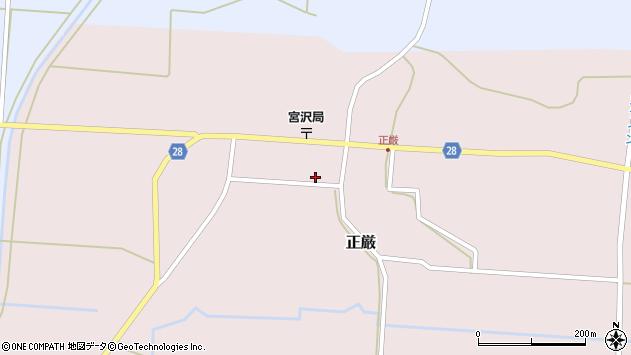 山形県尾花沢市正厳447周辺の地図