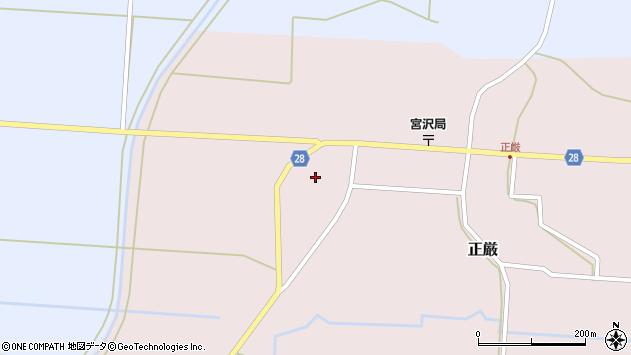 山形県尾花沢市正厳1045周辺の地図
