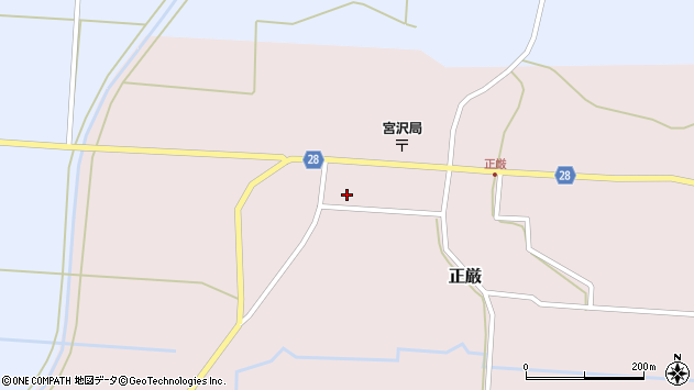 山形県尾花沢市正厳453周辺の地図