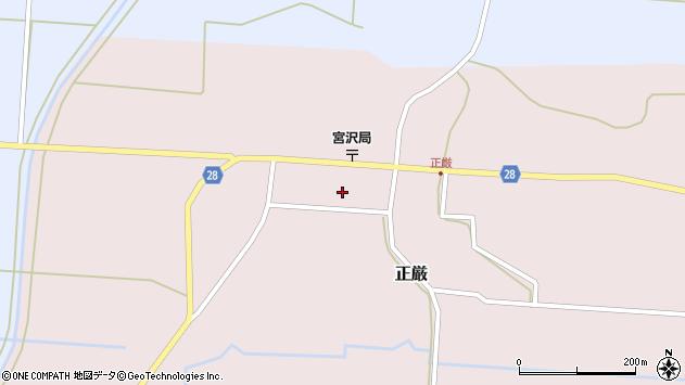 山形県尾花沢市正厳449周辺の地図