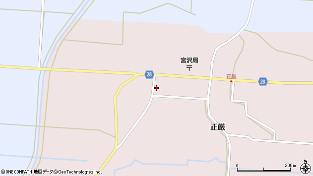 山形県尾花沢市正厳454周辺の地図