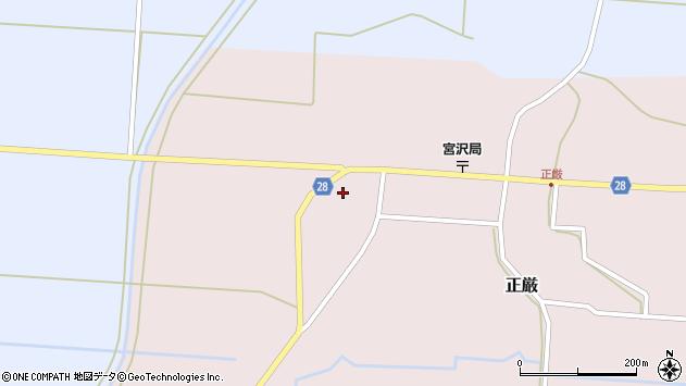 山形県尾花沢市正厳457周辺の地図