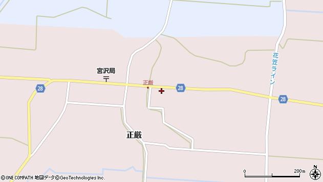 山形県尾花沢市正厳502周辺の地図
