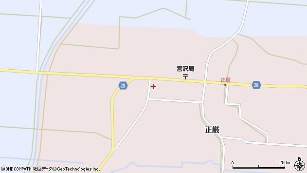 山形県尾花沢市正厳436周辺の地図