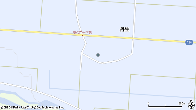 山形県尾花沢市丹生596周辺の地図