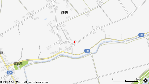 山形県尾花沢市荻袋886周辺の地図