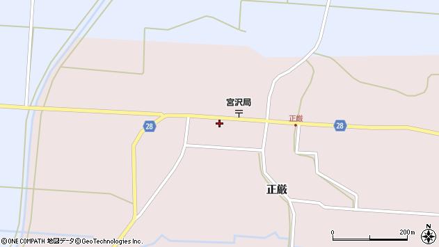 山形県尾花沢市正厳439周辺の地図