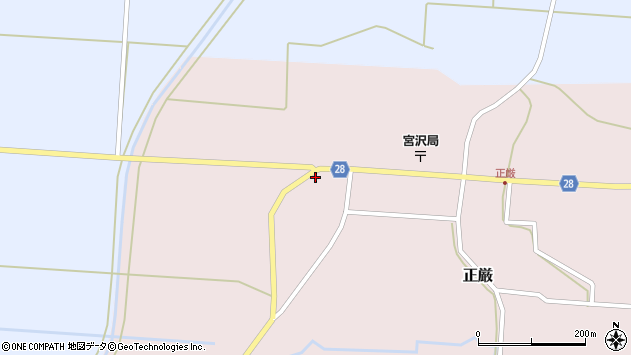 山形県尾花沢市正厳431周辺の地図