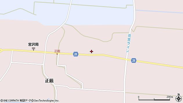 山形県尾花沢市正厳519周辺の地図