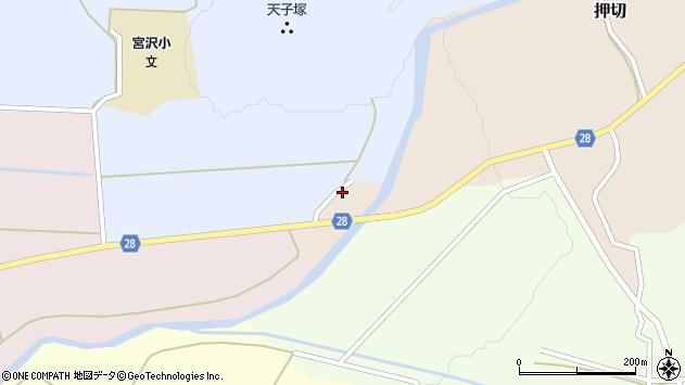 山形県尾花沢市押切1054周辺の地図