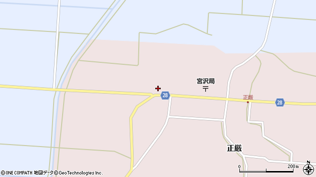 山形県尾花沢市正厳567周辺の地図