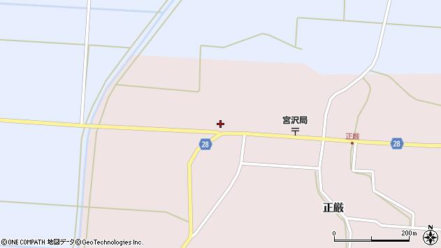 山形県尾花沢市正厳568周辺の地図