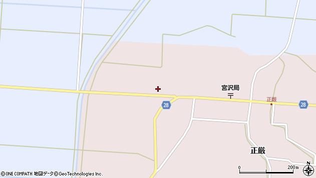 山形県尾花沢市正厳419周辺の地図