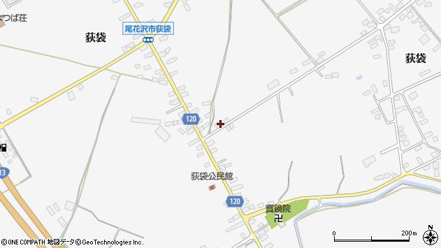 山形県尾花沢市荻袋1303周辺の地図