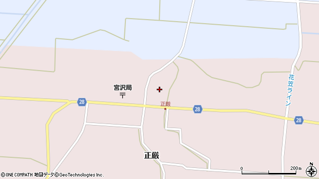 山形県尾花沢市正厳541周辺の地図