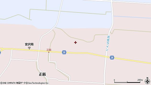 山形県尾花沢市正厳594周辺の地図