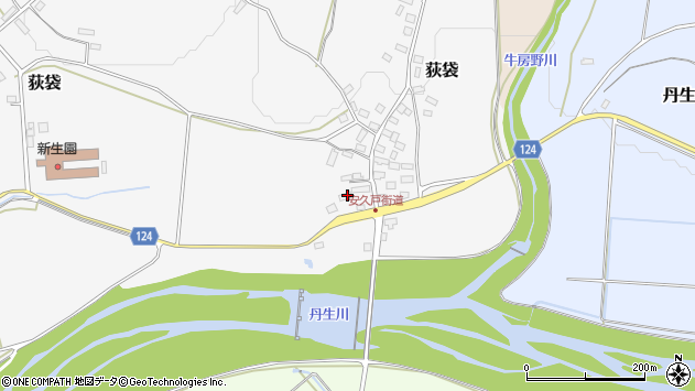 山形県尾花沢市荻袋999周辺の地図