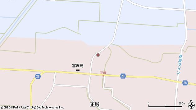 山形県尾花沢市正厳579周辺の地図