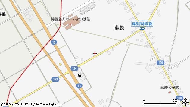 山形県尾花沢市荻袋648周辺の地図