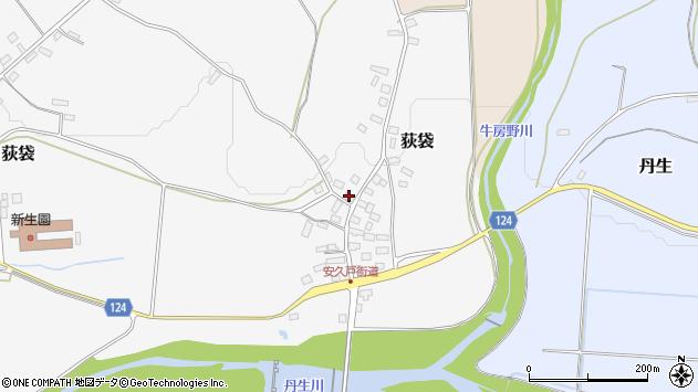 山形県尾花沢市荻袋1038周辺の地図