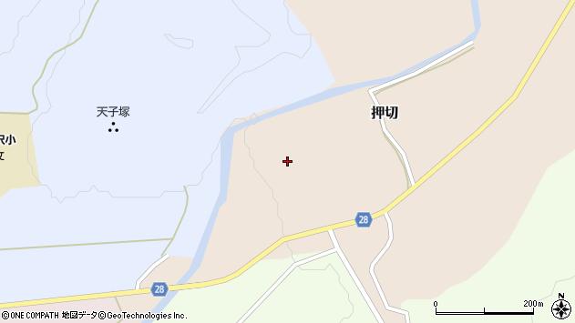 山形県尾花沢市押切266周辺の地図