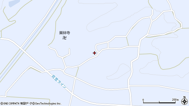 山形県尾花沢市丹生1693周辺の地図