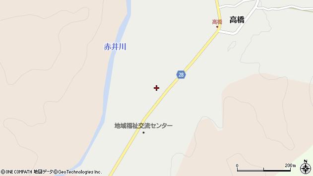 山形県尾花沢市高橋76周辺の地図