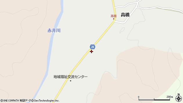 山形県尾花沢市高橋123周辺の地図