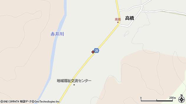 山形県尾花沢市高橋1104周辺の地図