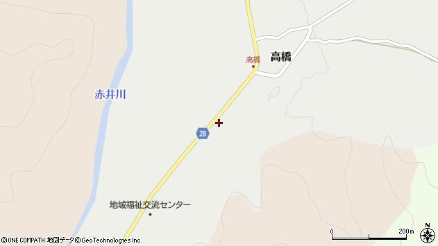 山形県尾花沢市高橋周辺の地図