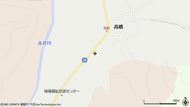 山形県尾花沢市高橋134周辺の地図