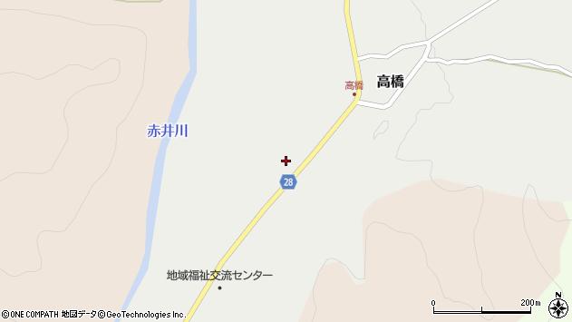 山形県尾花沢市高橋71周辺の地図