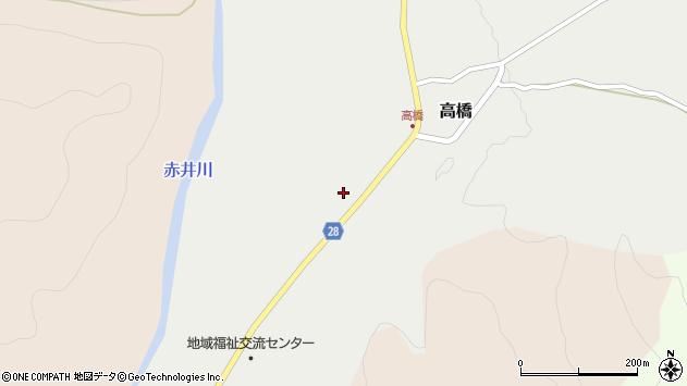 山形県尾花沢市高橋72周辺の地図