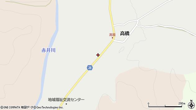 山形県尾花沢市高橋63周辺の地図