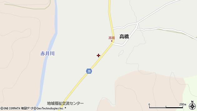 山形県尾花沢市高橋62周辺の地図