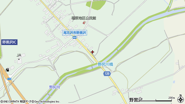 山形県尾花沢市野黒沢1276周辺の地図