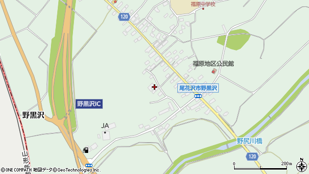 山形県尾花沢市野黒沢27周辺の地図