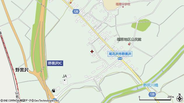 山形県尾花沢市野黒沢28周辺の地図