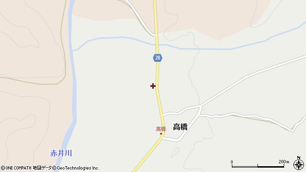 山形県尾花沢市高橋14周辺の地図