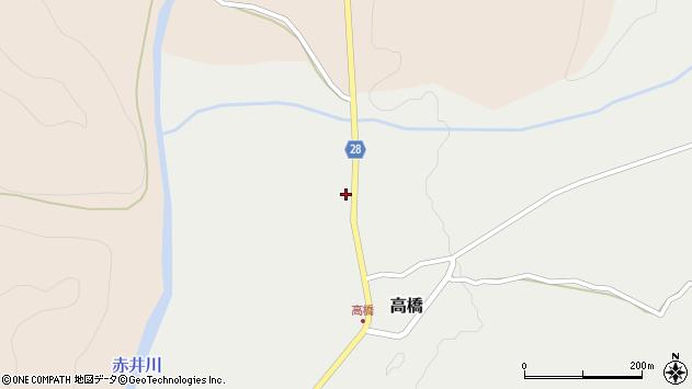 山形県尾花沢市高橋13周辺の地図