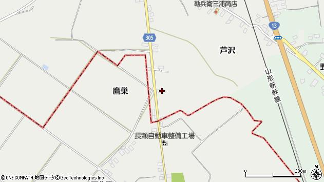 山形県尾花沢市芦沢992周辺の地図